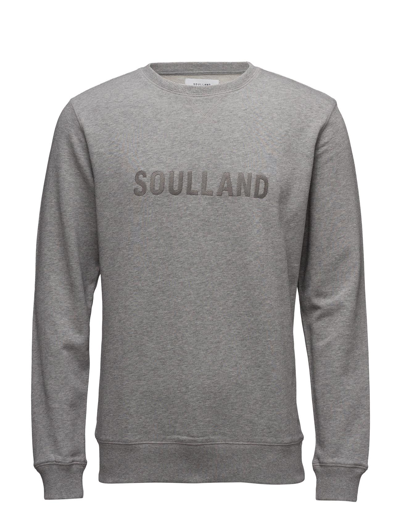 Ramsey Sweatshirt Soulland Striktrøjer til Mænd i Grey Melange