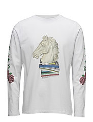Vinton t-shirt  w. long sleeved and print - WHITE