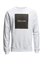 AW15 - BEARDSLEY SWEAT W. PRINT - BLACK - White