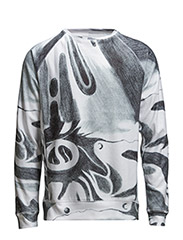 AW15 - BUTCHER SWEAT IN DIGITAL PRINTED VELOUR - MULTI - Multi