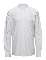 GOLDSMITH SHIRT - WHITE WITH WHITE HEARTS