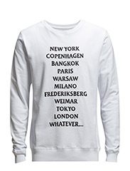 AW15 - PARKER SWEAT W. EMBROIDERY - WHITE - White