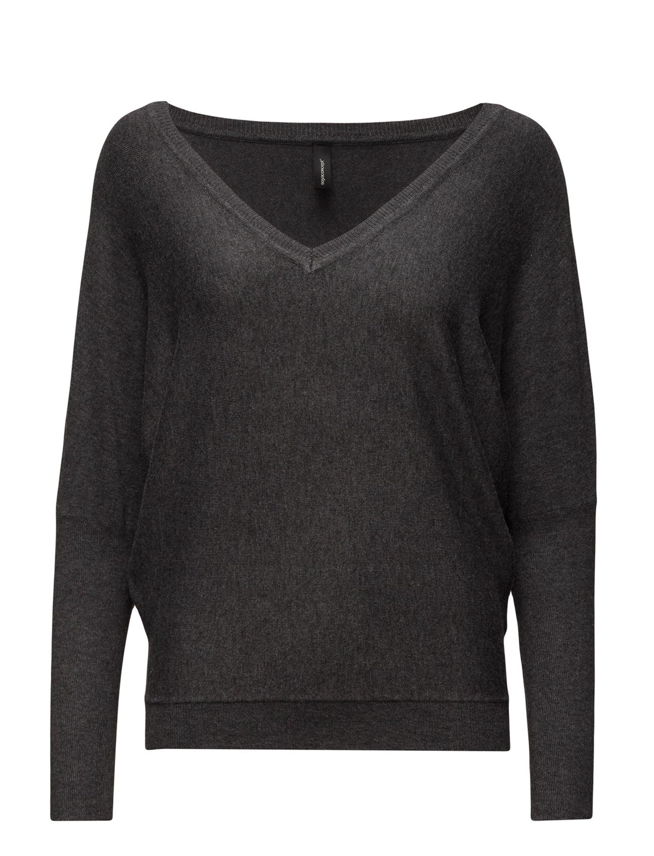 Dollie Soyaconcept Sweatshirts til Kvinder i Light Grey Mel.