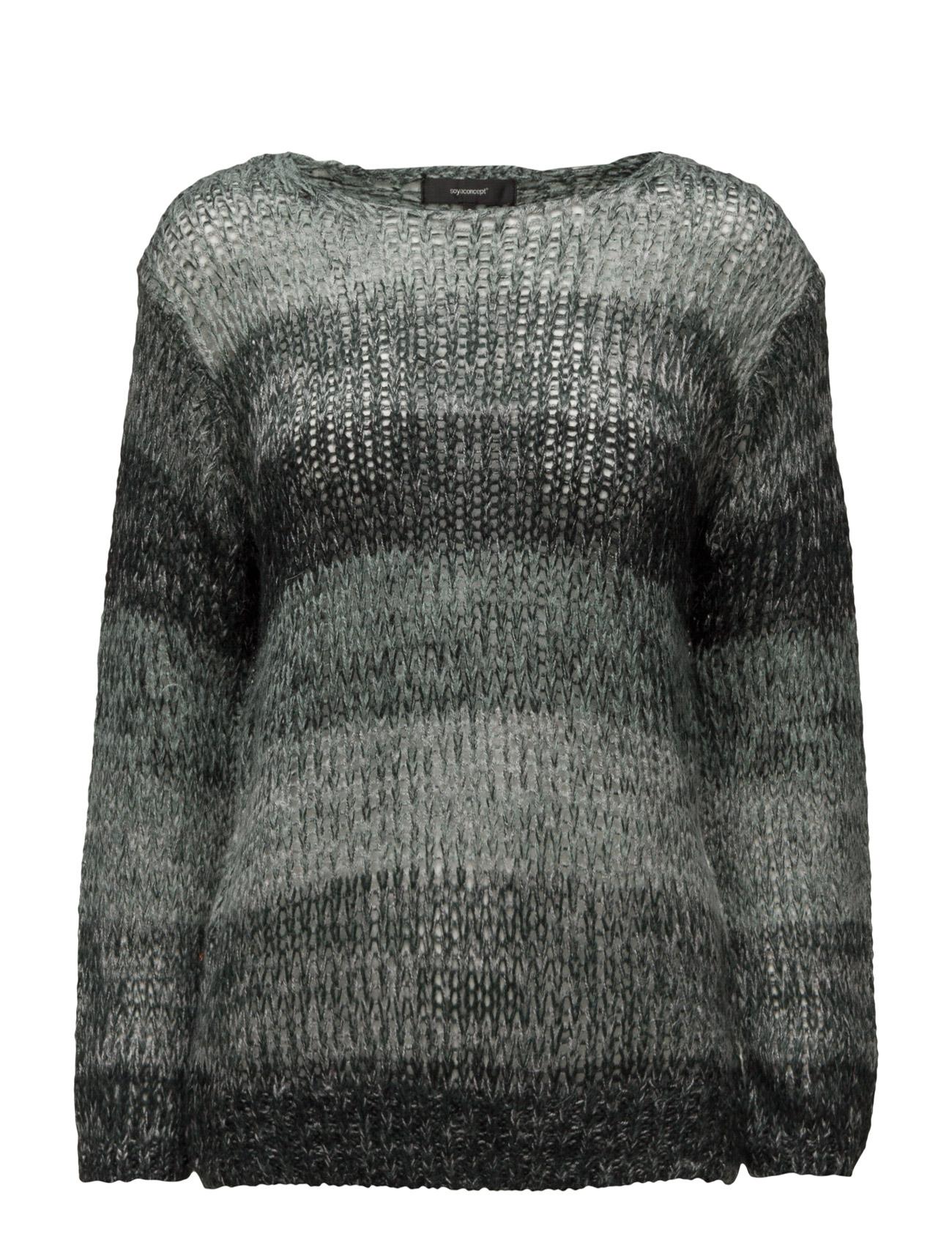 Orleans Soyaconcept Sweatshirts til Kvinder i Mørkegrøn Combi