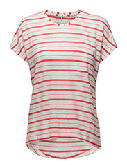 LYNETT STRIPE - HOT CORAL COMBI
