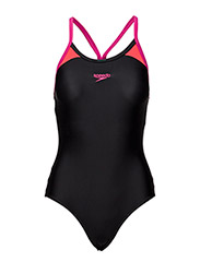 Speedo Splice Thinstrap Racerba Black-Pink 32(28 ) Speedo Swimwear