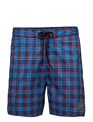 """YD CHECK LEISURE 16"""" WA AM - NAVY/RED"""