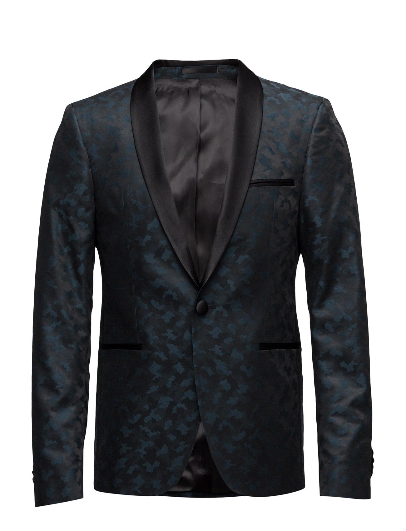 6881 - Bowie Shawl Normal SPO Smokings til Mænd i Medium Blå