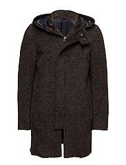 Alpaca Coat - Duff - DARK BROWN