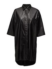 Mattea Shirt Dress - BLACK
