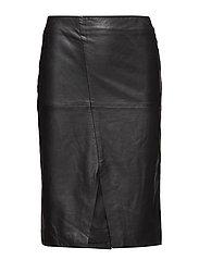 Thea Pencil Skirt - BLACK