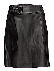 Adelaine A line midi skirt - BLACK