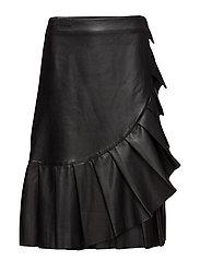 Anette Ruffle Skirt - BLACK