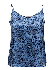 CAMISOLE ELLIE LEAPING - BLUE LEOPARD PRINT