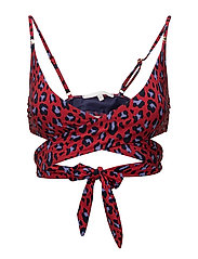 WRAP TOP ANIMAL - NAVY / RED