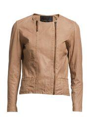 Soft Leather Jacket - Powder