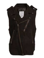 Soft Suede Vest - Black