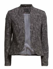 Flecked Jacket - Black with White