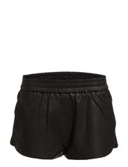 Leather Short Pants - Black