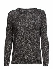 Cotton Mix Sweater - Black / White