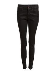 Plain & Print Jeans - Black