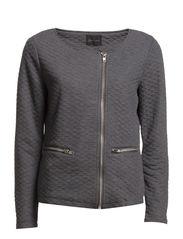 Rhombus Jersey Jacket - Dark Grey Mélange