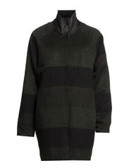 Winter Stripes Coat - Black/Green
