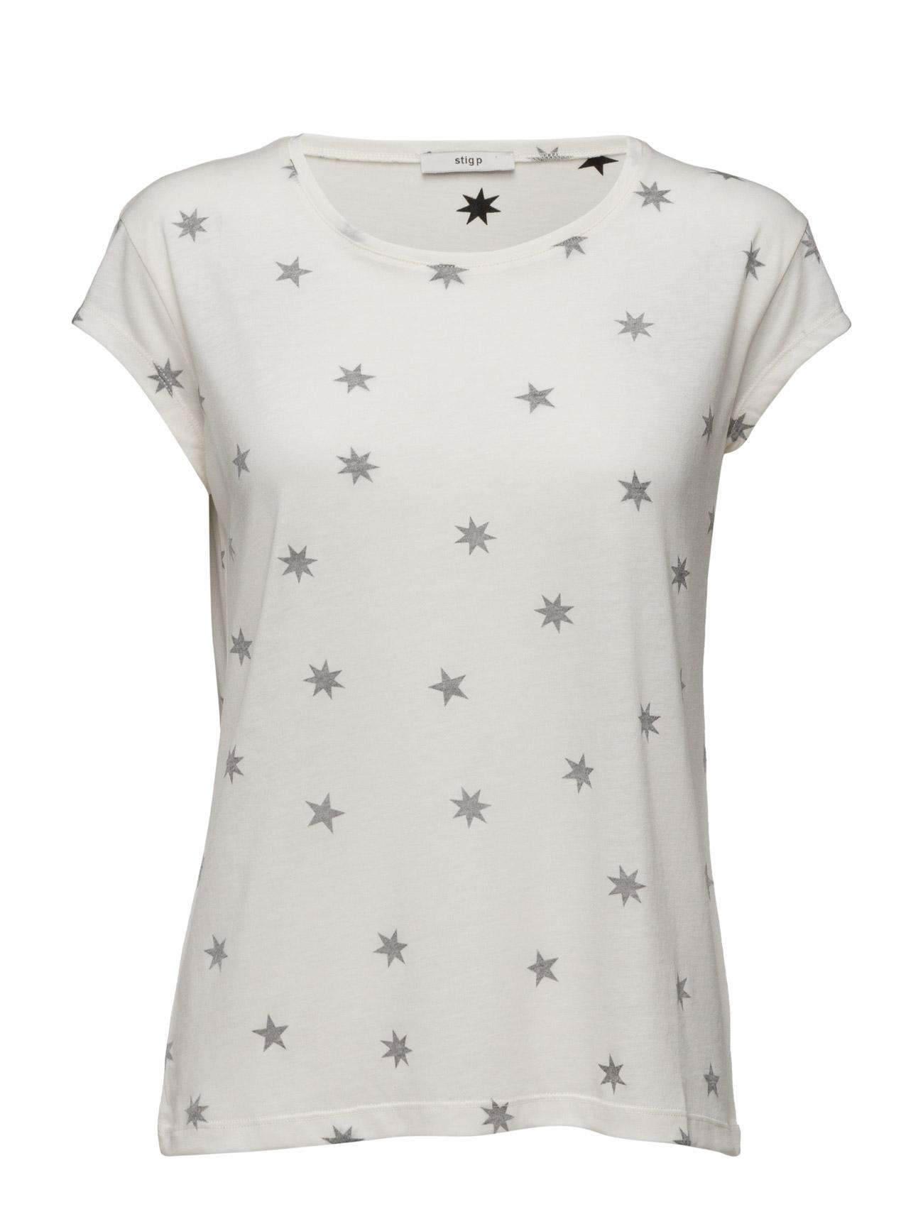 Charlotta T-Shirt With Star Print Stig P Kortærmet