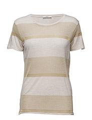 ROBYN T-shirt with lurex stripe details - 17 GOLD