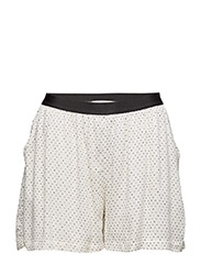 Melanie Loose shorts - 107-OFF WHITE/BLACK