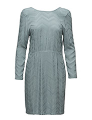 Saga Dress with buttons in back - 74-PINE GREEN