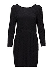 Saga Dress with buttons in back - 99-BLACK