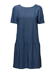 Johanna Dress with buttons in back - 69-DENIM