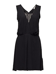 Babara Dress with lace detail - 99-BLACK