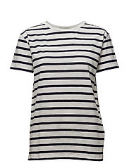 Alba T-shirt - OFF WHITE/DARK BLUE
