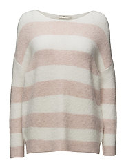 Monifa Knit Round-neck - 116/OFF WHITE/ROSE