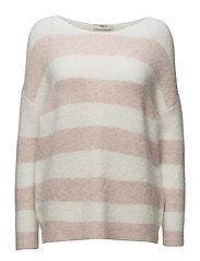 Monifa Knit Round-neck - 116/OFF WHITE/ROSE