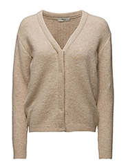 Thilde Knit cardigan - 13-LIGHT BEIGE