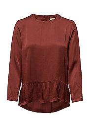 Estrid blouse - BURNT AMBER 25