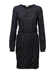 Kacia dress - MIDNIGHT BLUE/GOLD 124