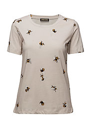 Rikke, 255 Bees Jersey - BEES OFF WHITE