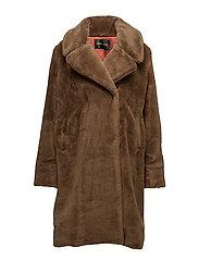 Lena, 276 Faux Fur Down Coat - FIR