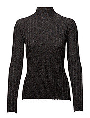 Erika, 342 Ribbed Sparkle knit - BLACK