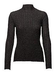 Erika, 342 Ribbed Sparkle knit - BLACK