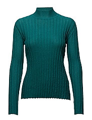 Erika, 342 Ribbed Sparkle knit - EMERALD