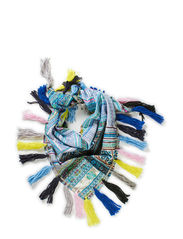 VINTAGE HILLTRIBE SCARF BLUE - blue multi