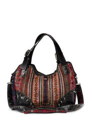 VINTAGE HILLTRIBE BAG M BLACK - multi black