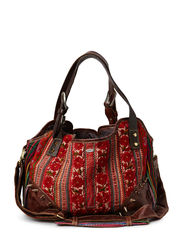 VINTAGE HILLTRIBE BAG M BROWN - multi brown