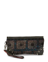 VINTAGE HILLTRIBE CLUTCH BLACK - multi black