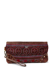 VINTAGE HILLTRIBE CLUTCH BROWN - multi brown
